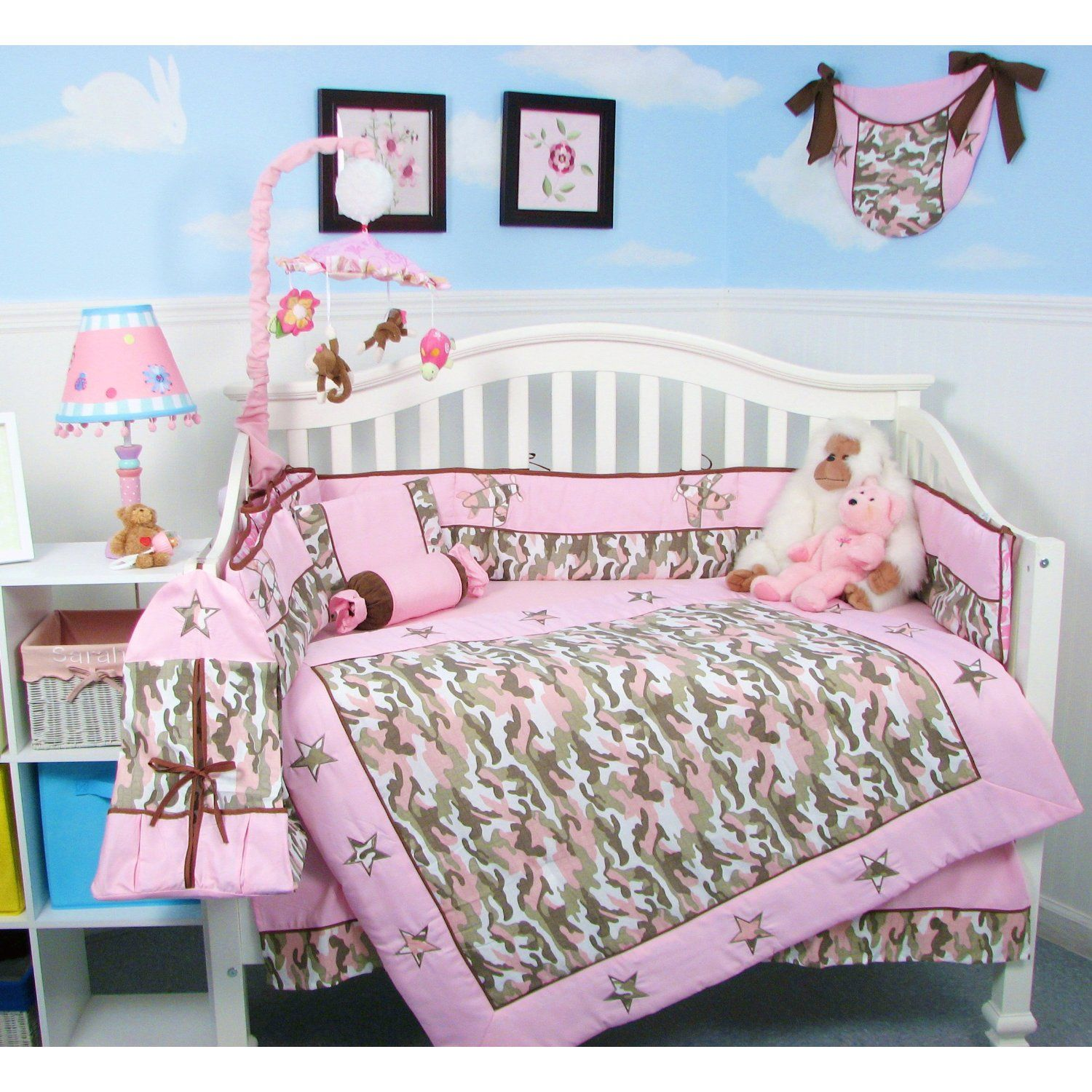 Pink camo baby bedding mossy oak - Pink Camo Baby