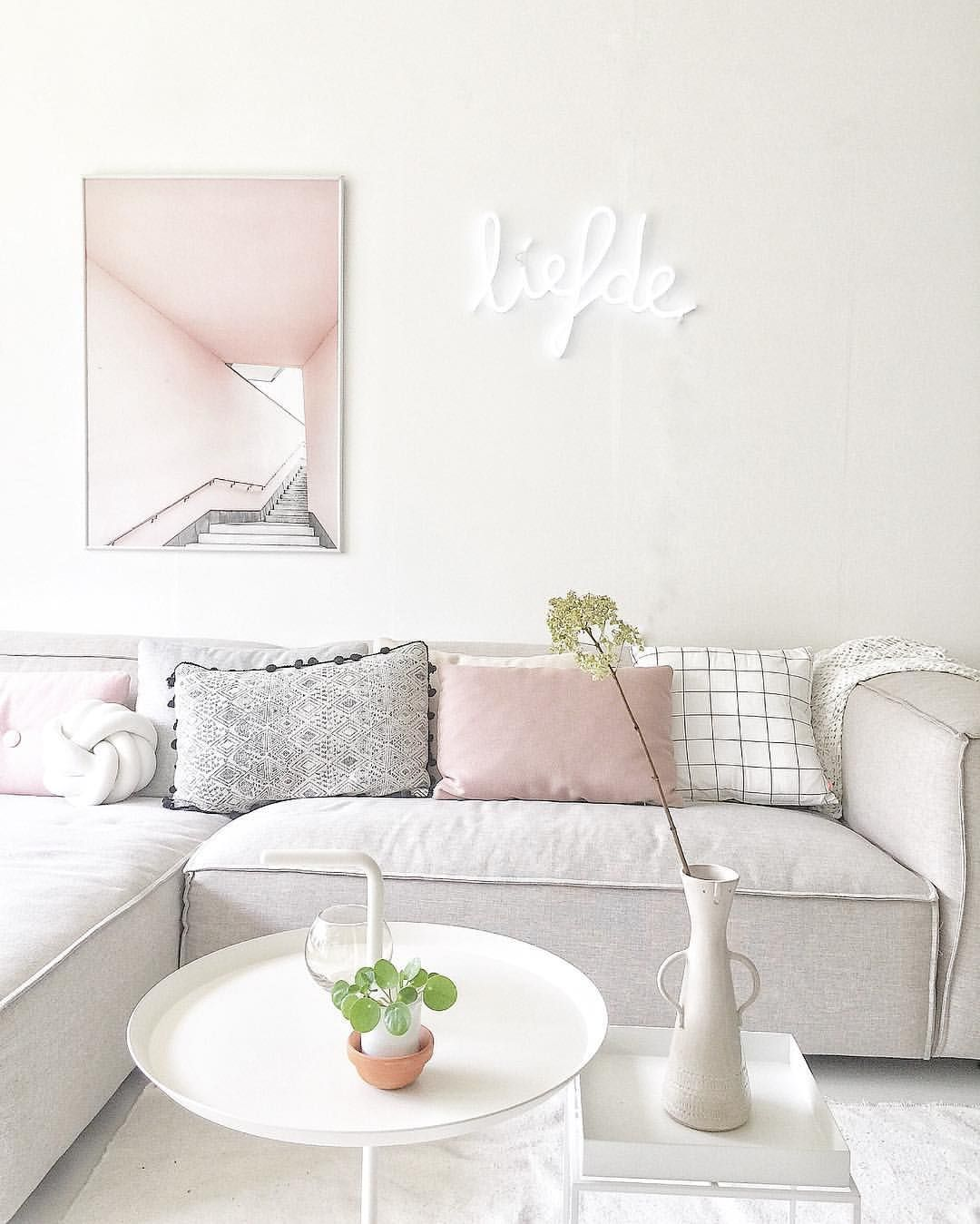 ultimate small living room. If You Are Searching For The Dreamiest Color Trio, Pink, White And Grey Is Ultimate Combo! Neutral, Classy Versatile, Small Living Room R