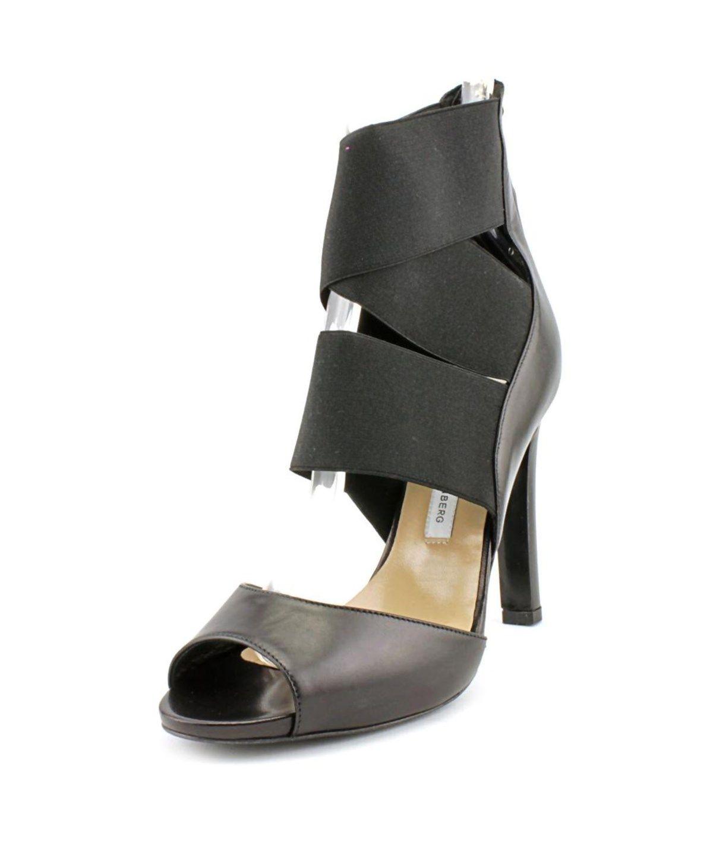 315baee0e7a DIANE VON FURSTENBERG Diane Von Furstenberg Juliesa Women Open-Toe Leather  Black Slingback Heel .  dianevonfurstenberg  shoes  pumps   high heels