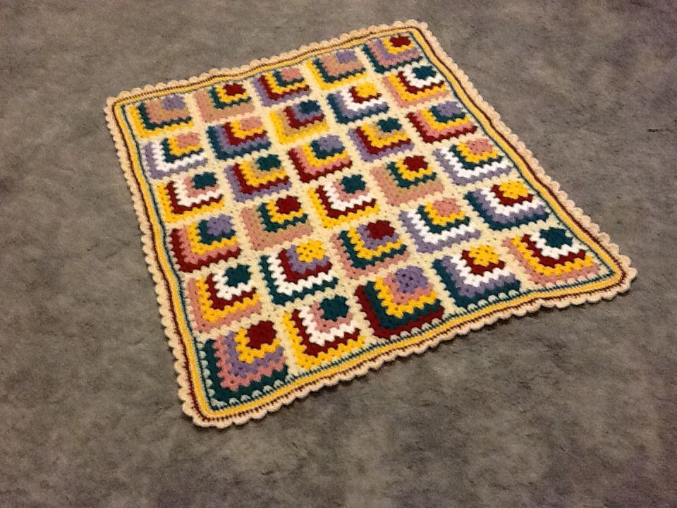 Mitre square crocheted knee rug Crochet Pinterest