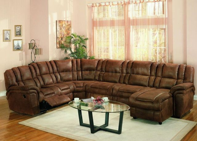 Best Leather Wrap Around Couch Sectional Sofa With Recliner 400 x 300