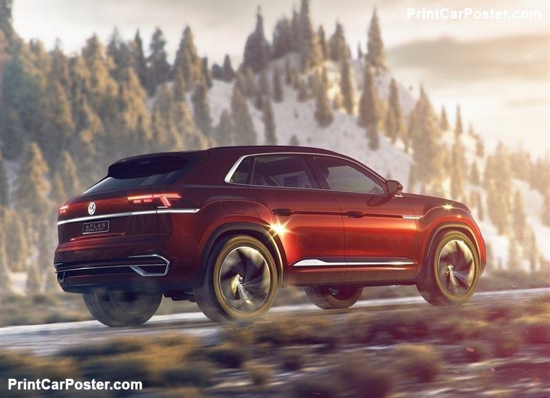 Volkswagen Atlas Cross Sport Concept 2018 poster Autók