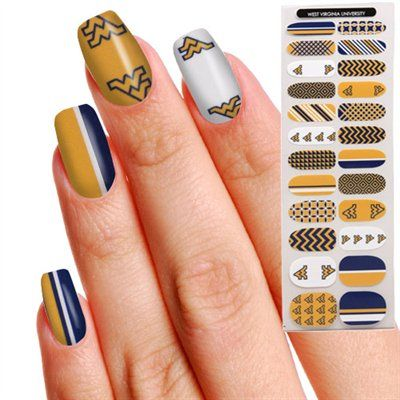 WVU Mountaineers women\'s 24-pack fingernail appliques | Mountaineers ...