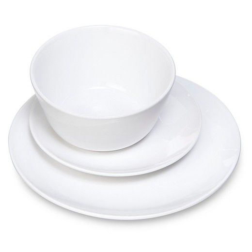Coupe 12pc Dinnerware Set White - Room Essentials  sc 1 st  Pinterest : white dinnerware sets for 12 - pezcame.com