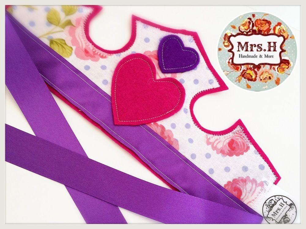 Felt Crown - Pink and Cadbury Purple