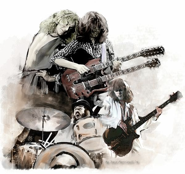 Rolling Thunder, Led Zeppelin by David Pucciarelli.