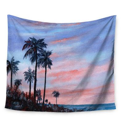 East Urban Home Florida Sunset by Rosie Brown Wall Tapestry Size: