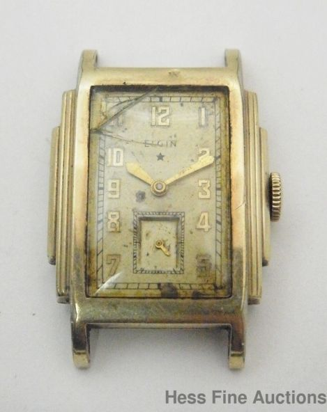 vintage very art deco elgin 17j mens wrist watch elgin vintage vintage very art deco elgin 17j mens wrist watch elgin
