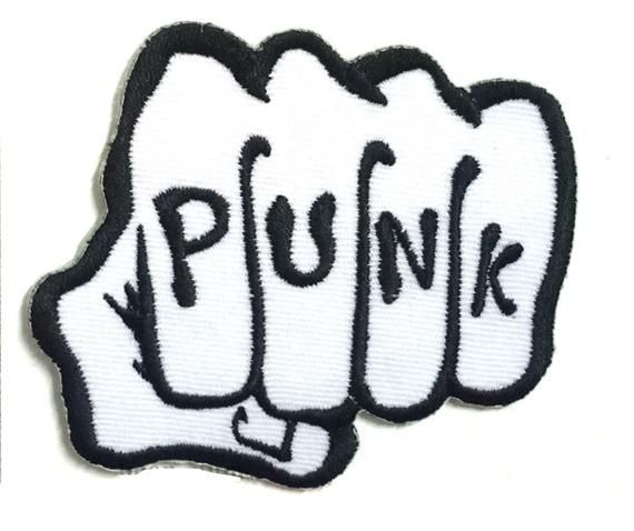 punk punch DIY Decorate Fabric Patch Embroidered Applique Iron Sew
