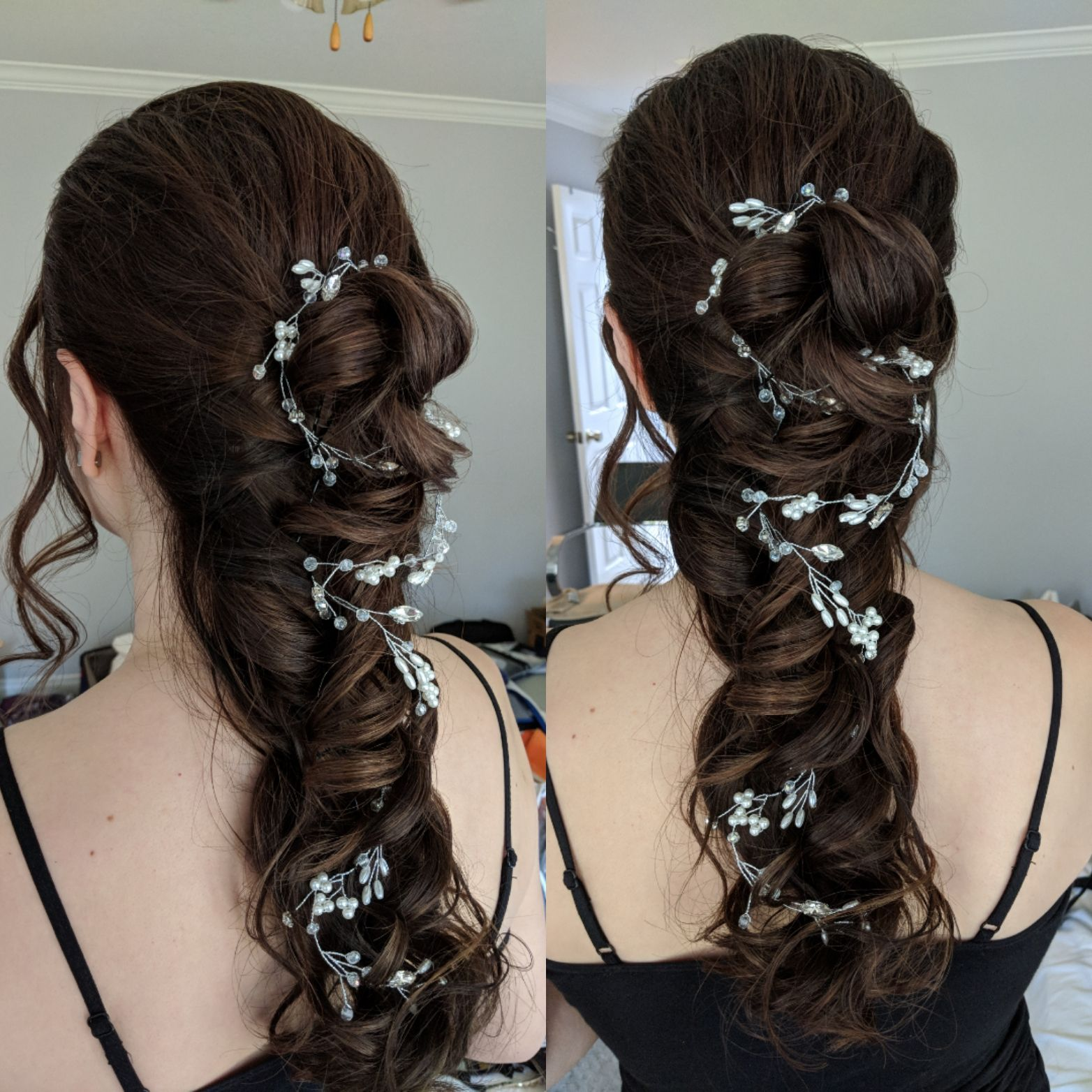 this lovely asian bride had hair like silk, so we did a long