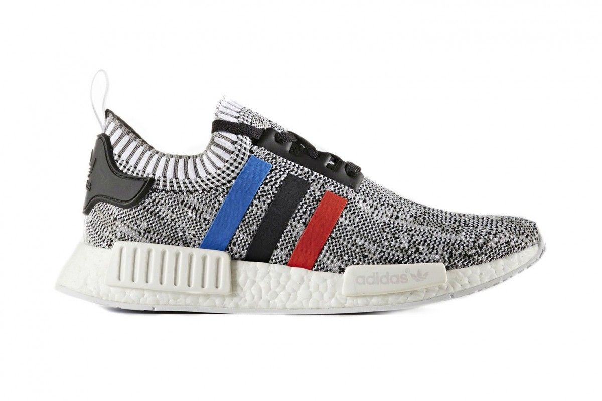 Adidas NMD R1 Tricolor Stripes | Boost shoes, Sneakers men