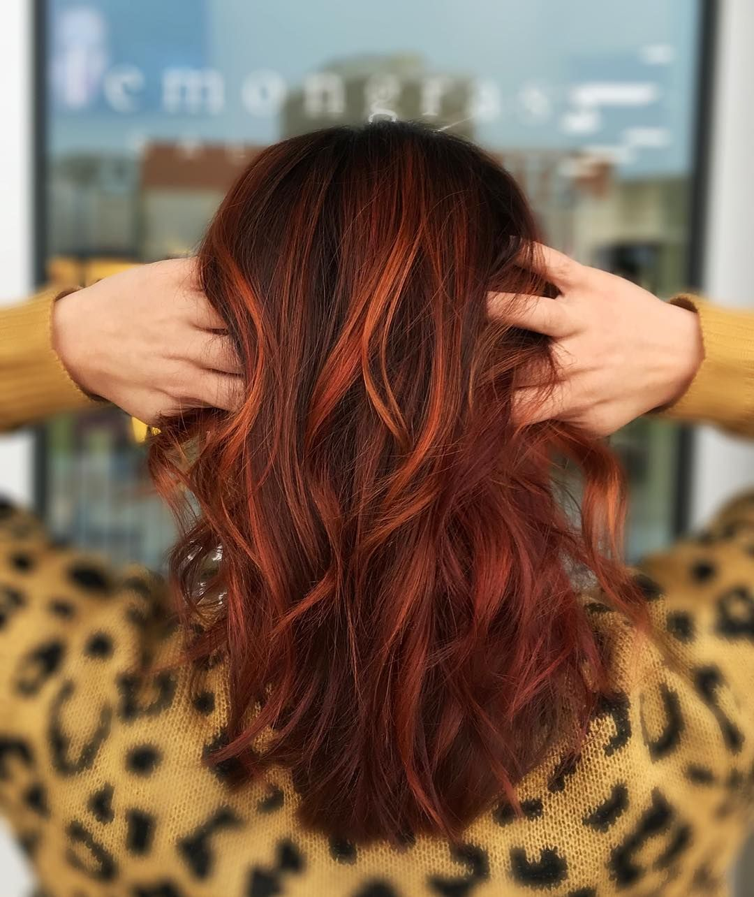 Multi Dimensional Copper Balayage Balayage Hair Copper