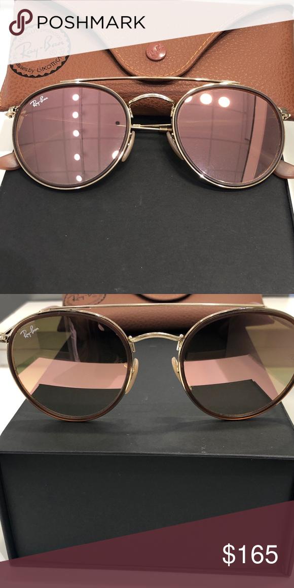 1aae857bba Ray-ban double bridge round sunglasses Brand new Rayban double bridge  rounds