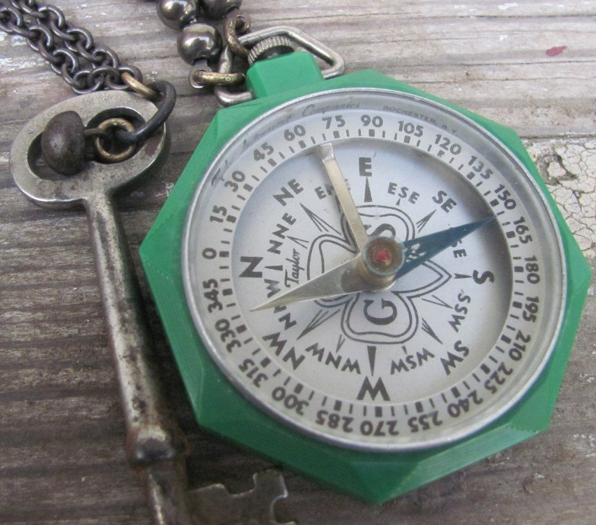 vintage girl scout compass