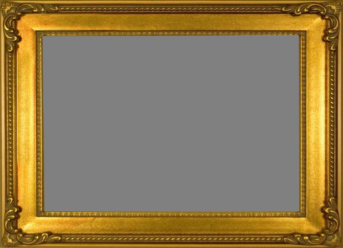 rich gold finish amp delicately carved corners fancy