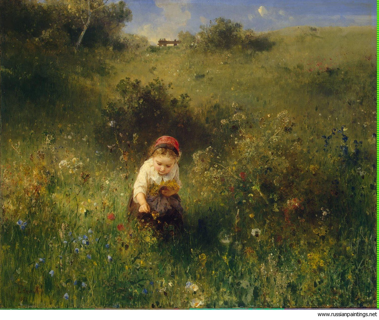 Knaus Ludwig Girl in a Field  - Hermitage