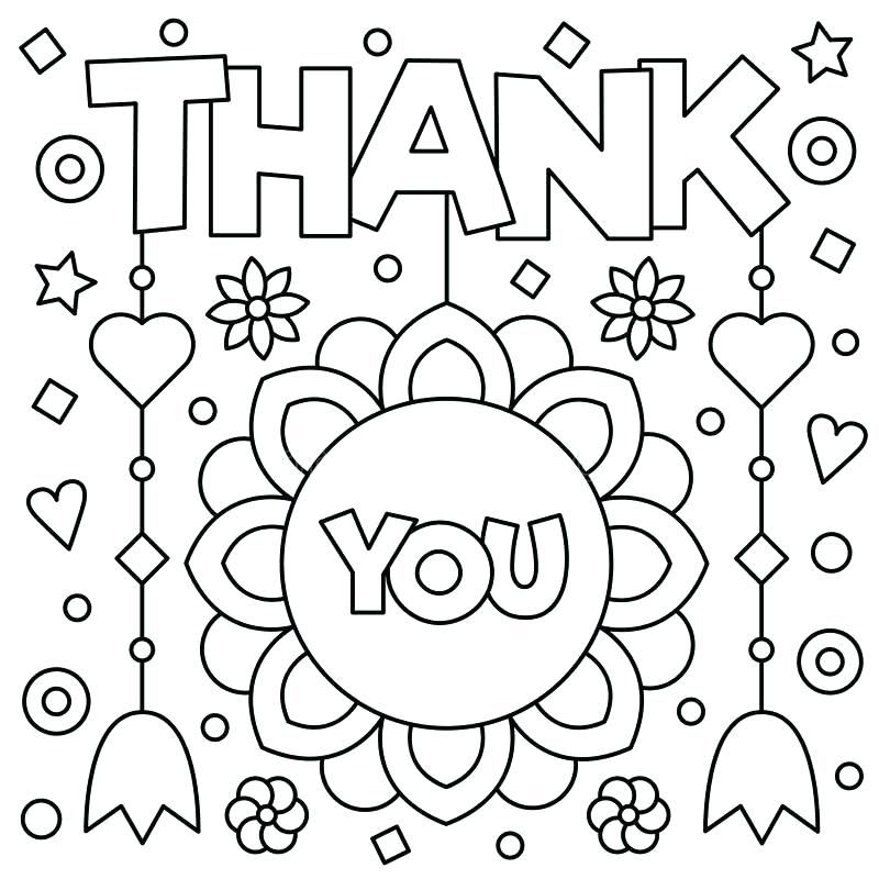 11 Best Thank You Coloring Pages (With images) Printable