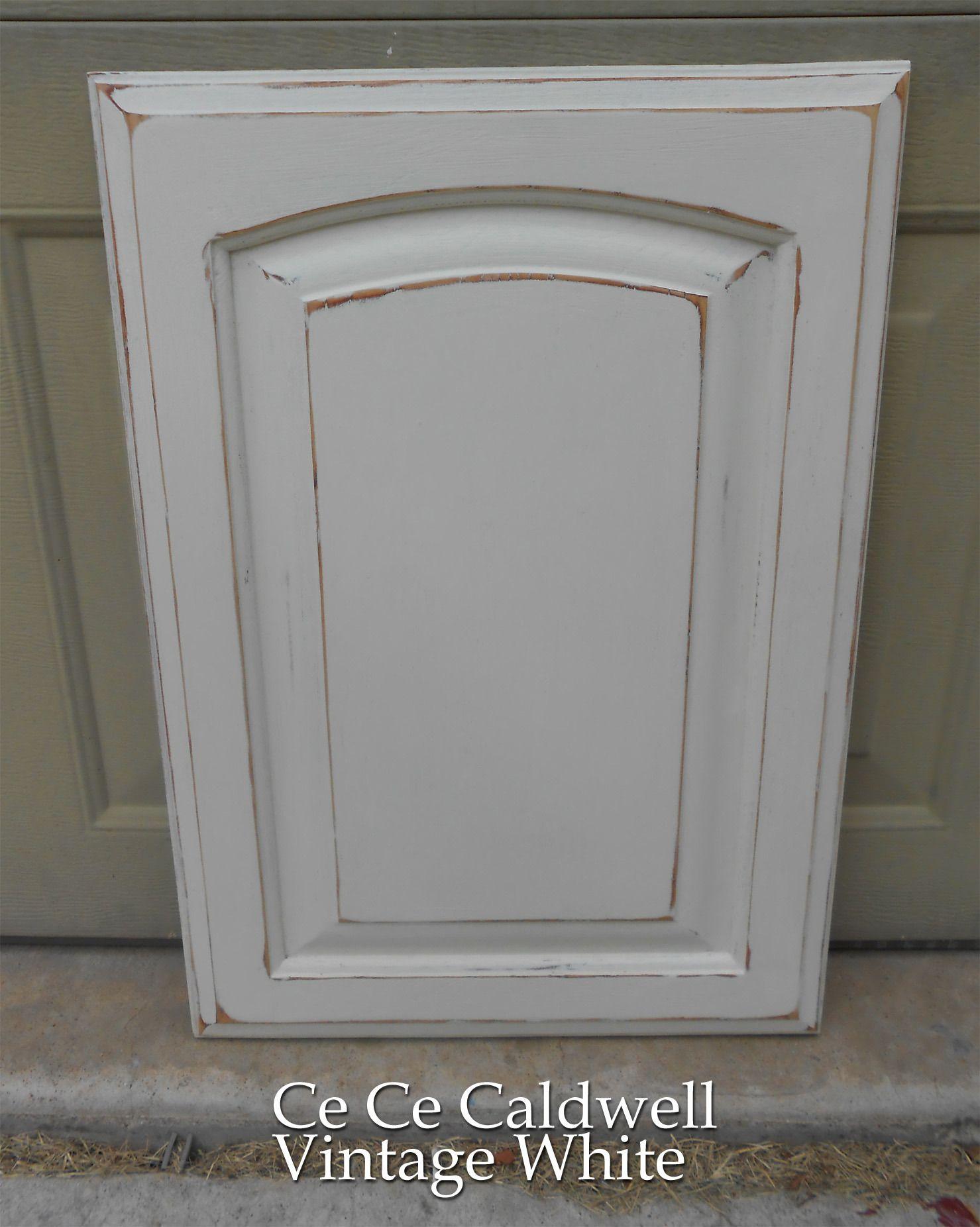 Using chalk paint for oak kitchen cabinets test door final test