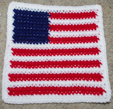 Row Count Flag Afghan Square Free Crochet Pattern | Crochet ...