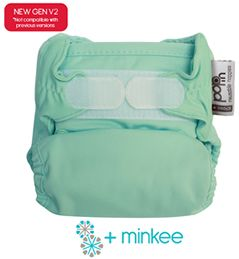The same super fast drying +minkee Pop-in nappy that's been a popular choice for years but with some handy improvements.  Hidden washing tabs, improved sizing and more comfortable popper system... oh and some great new colours too! The Pop-in +minkee nappy has absorbent, very quick drying minkee inserts which popper into place inside the clever waterproof outer cover.  The outer cover has a double leg gusset which is excellent at containing mess and absorbent soakers unpopper for fast…