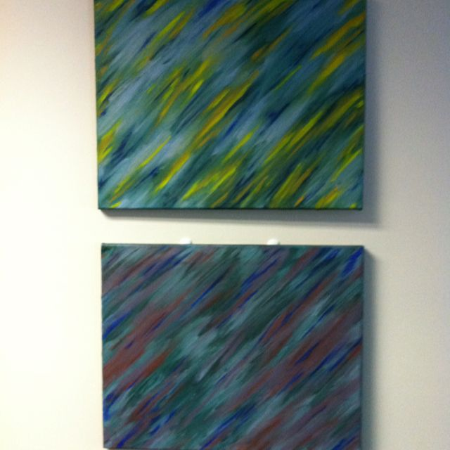 Day & Night. c.2011 (diptych; oil on canvas)