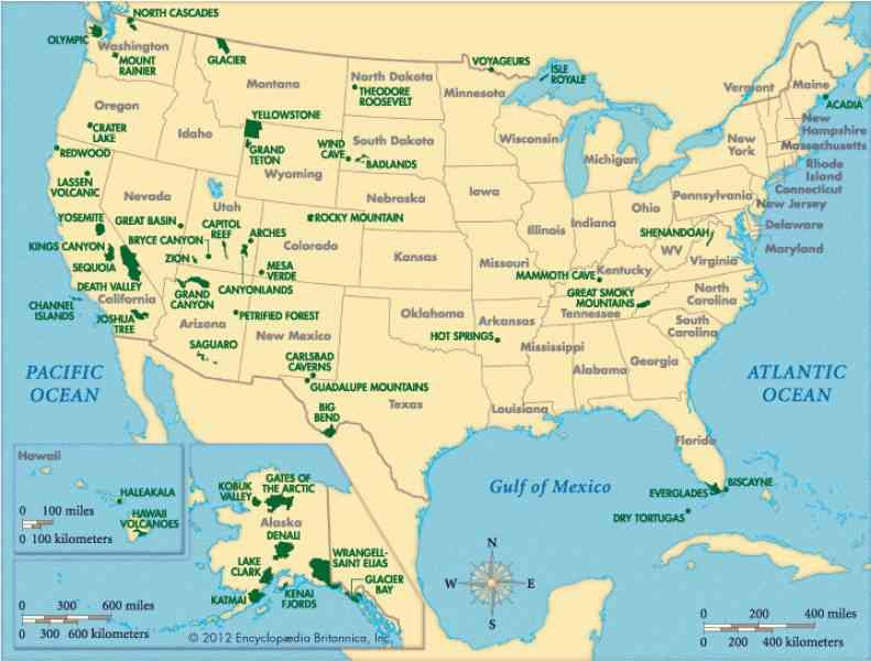 Map Us National Parks US Road Trip Cities Pinterest - Us national parks map road trip