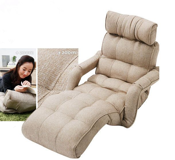 Floor Foldable Chaise Lounge Chair 3color Adjustable Recliner Living Room Furniture Japanese Style Day Comfy Sofa Chair Living Room Recliner Folding Sofa Chair