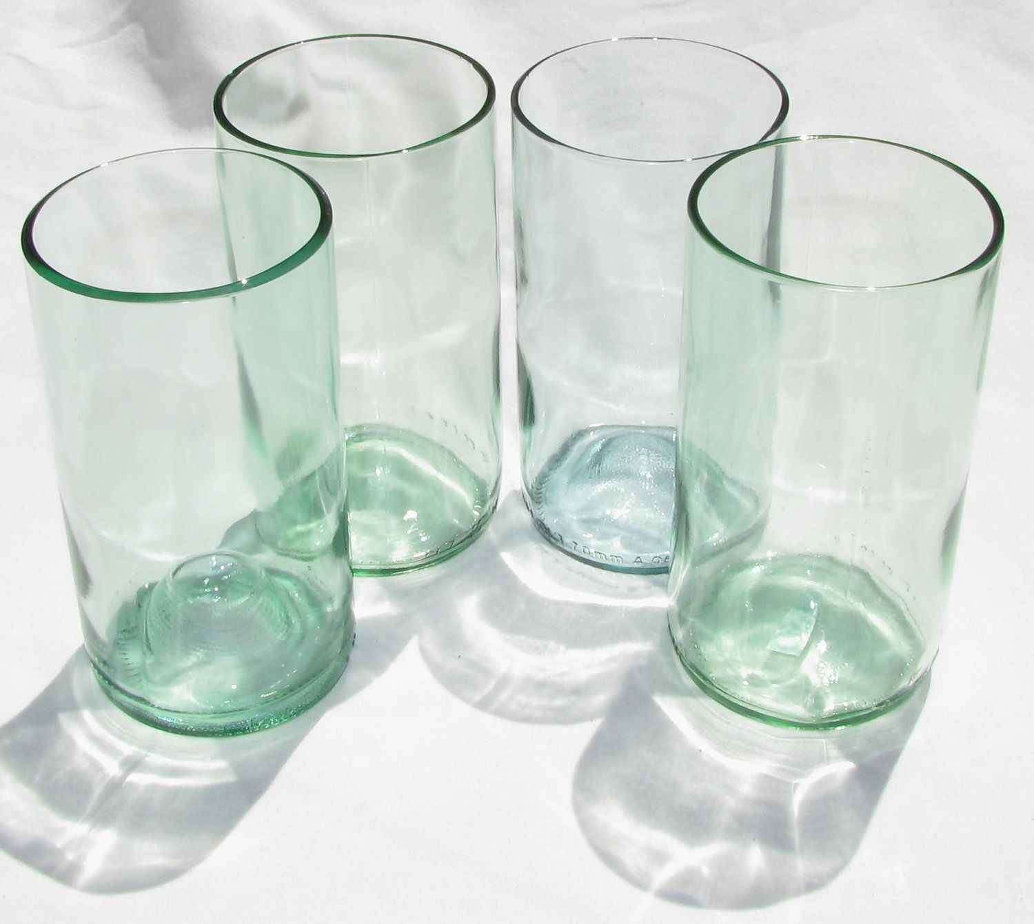 Soft Green Wine Glass Recycled Michigan Wine Bottles Glass Tumblers