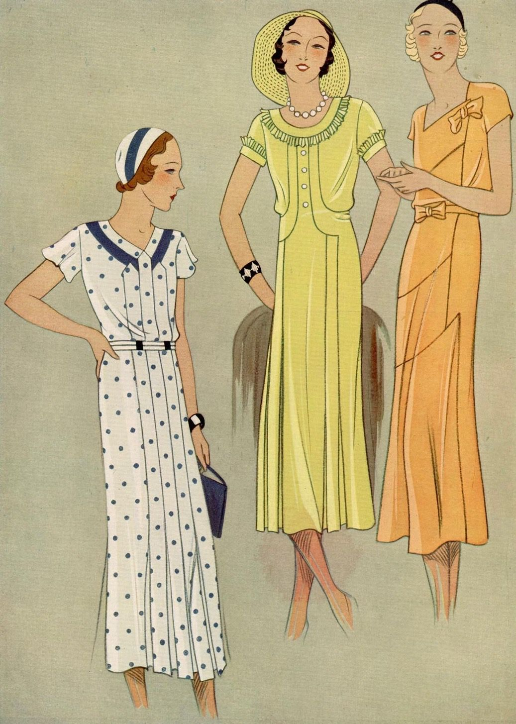 Pin By 1930s 1940s Women S Fashion On 1930s Dresses 1 Vintage