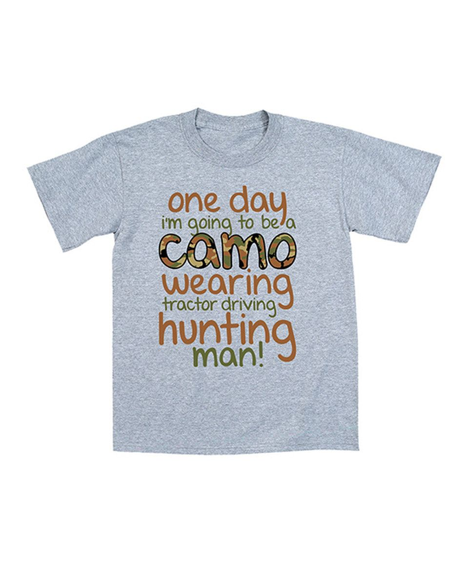 Love this Heather Gray 'Hunting Man' Tee - Toddler & Boys by Country Casuals on #zulily! #zulilyfinds