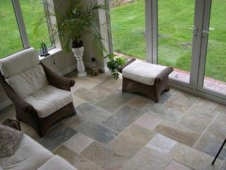 Slate Floor Tile For The Sunroom Too With Images Kota Stone