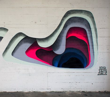 Shadowy Secrets Colorful Layering Creates Trick D Murals - Incredible optical illusion street art 1010