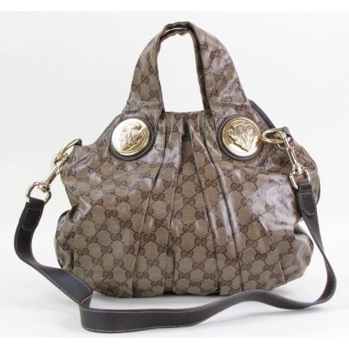 99805759cf0 Gucci Beige Crystal Coated Canvas Small Hysteria Convertible Tote ...