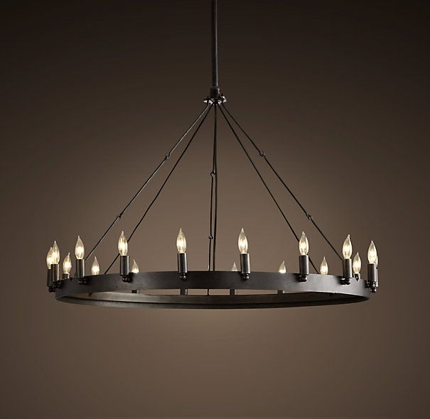 Round Chandelier Light: Camino Round Chandelier Small - For master bath, dining room, master  bedroom, living,Lighting