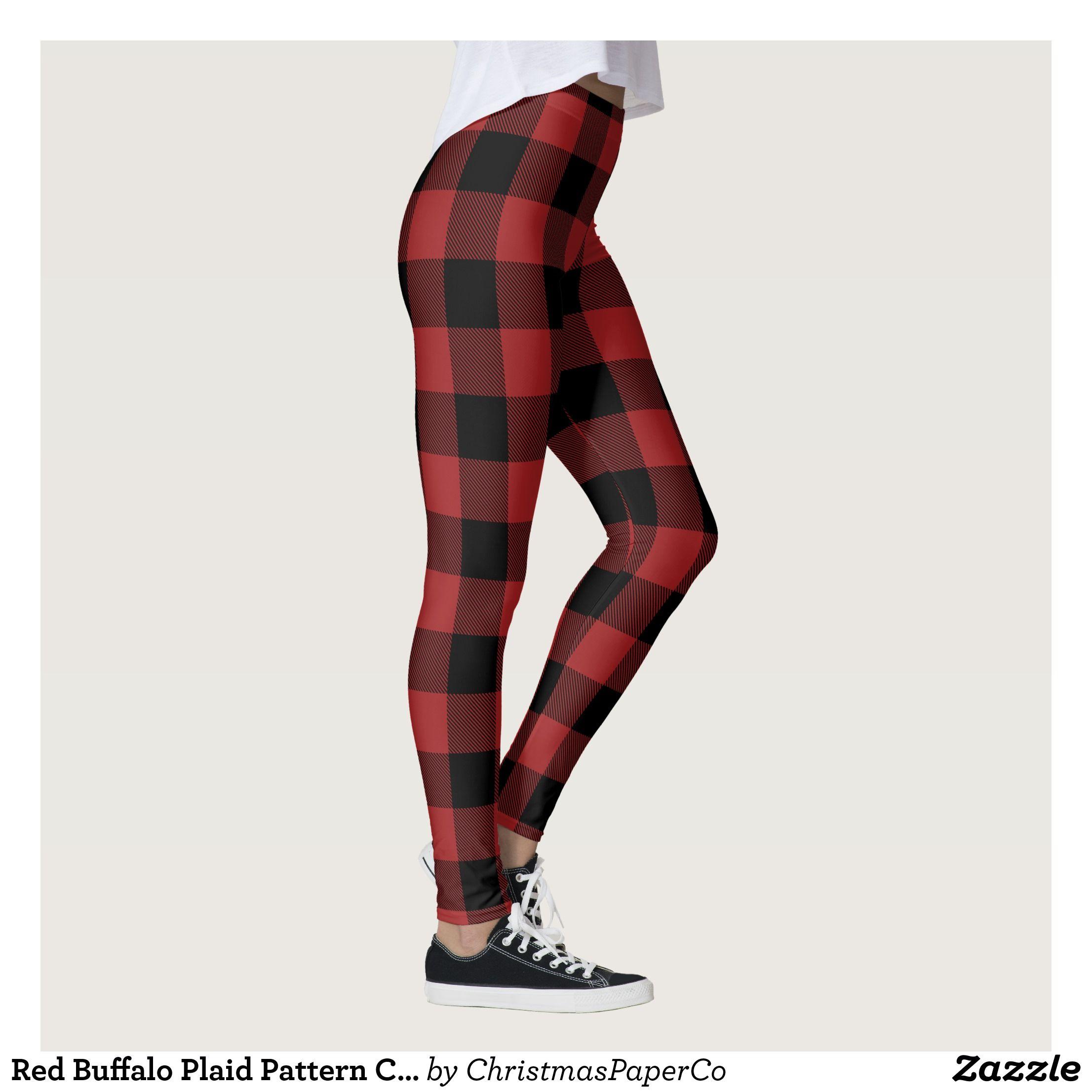 Yoga Pants Fall New Christmas red Plaid Pantyhose Female Printed Leggings