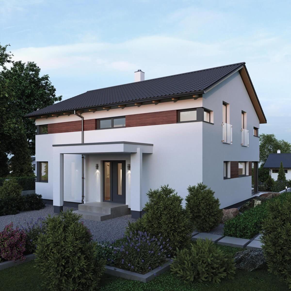 Einfamilienhaus Neubau mit Satteldach Architektur modern & Galerie ...