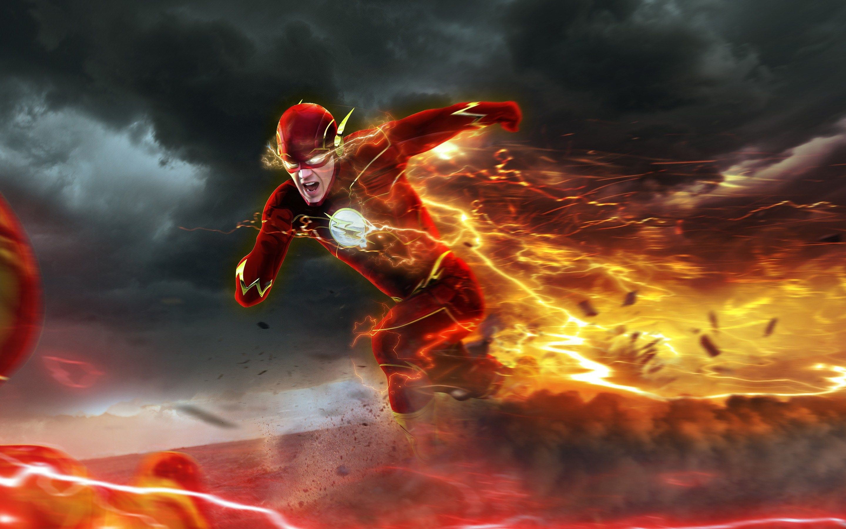 Barry Allen In Flash Hd Wallpaper The Flash Flash Tv Series