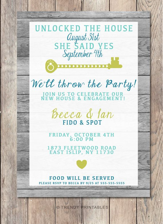 Housewarming Engagement Party invitation Canu0027t be single forever - fresh invitation wording house party