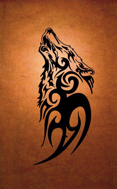 Loup Tribal Dallas Pinte