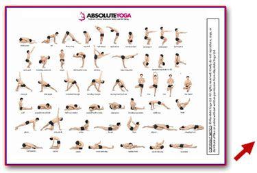 hot yoga pose chart  yoga poses names hot yoga poses