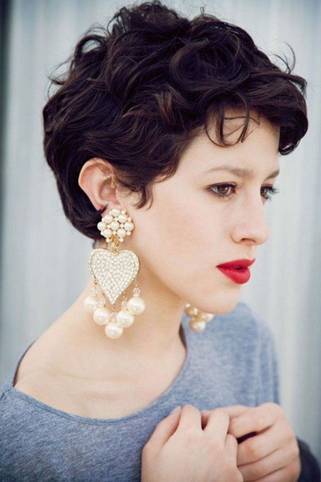 Short Pixie Haircuts For Thick Hair Curly Pixie Hairstyles Curly Pixie Haircuts Thick Hair Styles