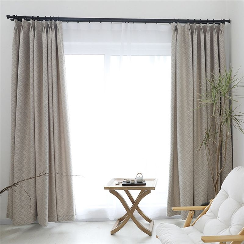 Blackout Curtain Modern Simple Style Curtain Living Room Office Curtain Wavy Pattern Curtain One Panel Living Room Office Trendy Living Rooms Curtains Living Room