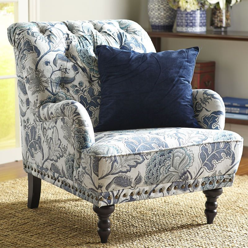 Floral Arm Chair Cover Rentals Boston Ma Chas Indigo Blue Armchair My Future Home Pinterest