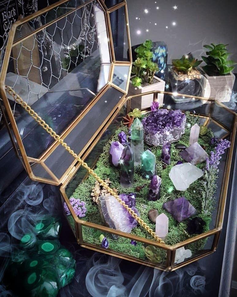 "Ayana Wellness on Instagram ""LOVE this crystal garden"