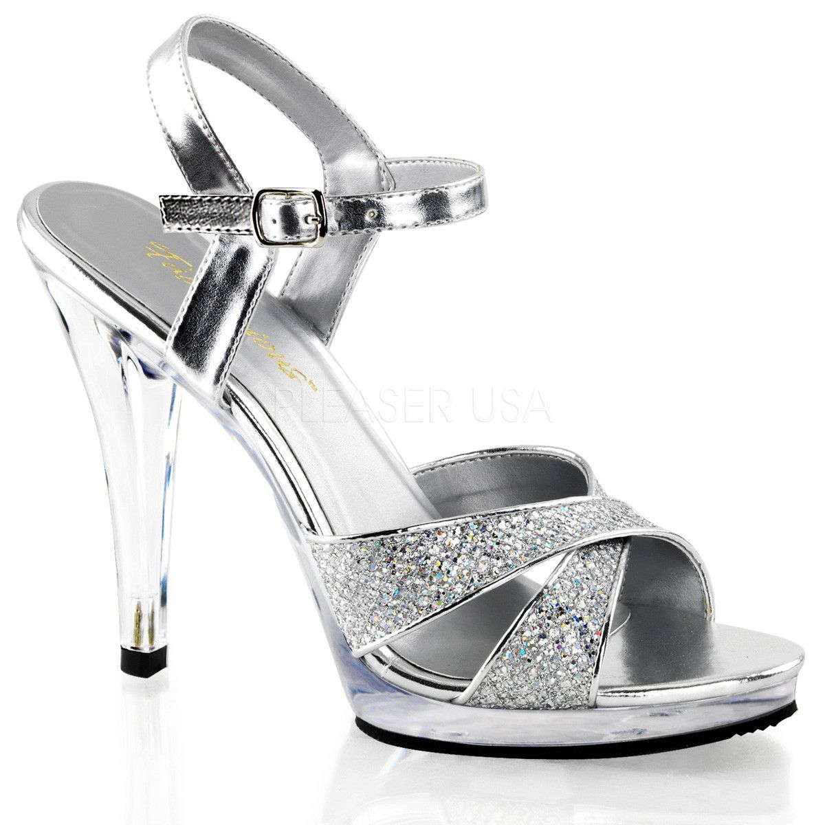 Black sandals 2 inch heel - Silver 4 1 2 Inch Heel 1 2 Inch Platform Sexy Open Toe