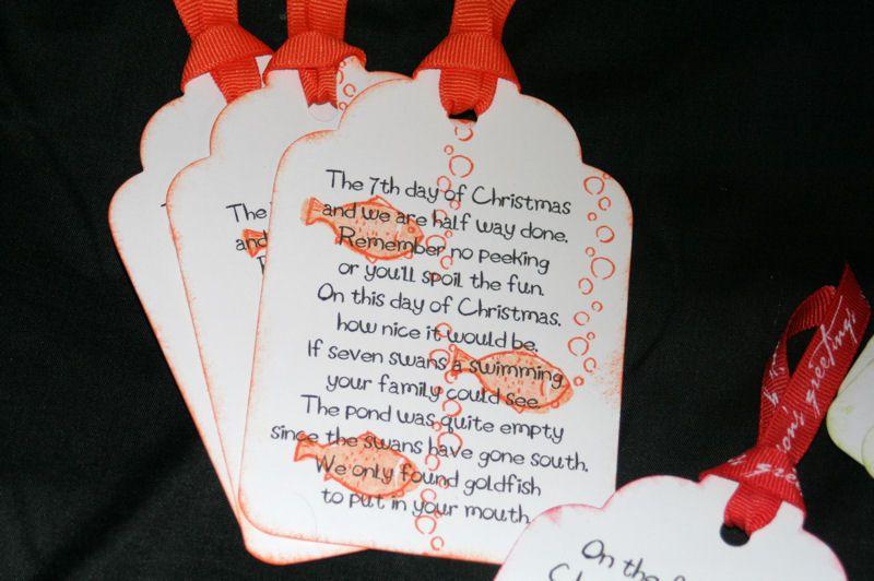 12 Days of Christmas Ring and Run Neighbor christmas