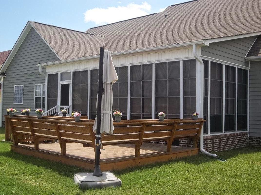 A Back Porch Ideas Can Be Just Roofed Or Fully Screened To Avoid Bad Weather Conditions Keep Your Kids Safe Inside