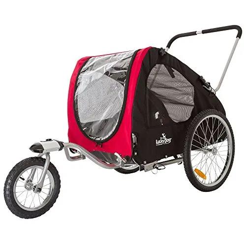 Lucky Dog Deluxe Pet Stroller Bike Trailer Combo Best