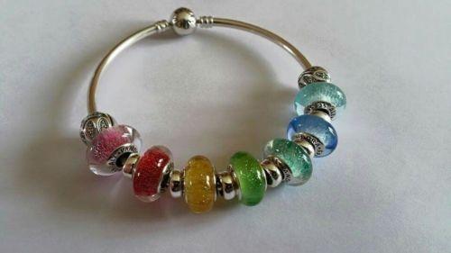 Pandora, Disney Princess Signature colour Murano Glass charms S925 ...