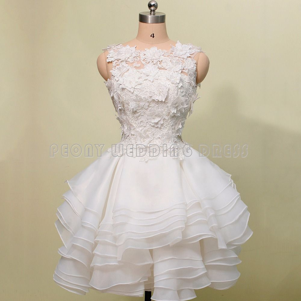 Real photos short beige appliques ball gown homecoming dresses